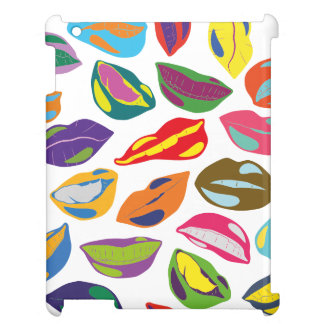 Psycho retro colorful pattern Lips iPad Covers