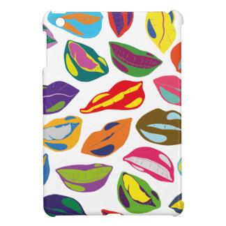 Psycho retro colorful pattern Lips iPad Mini Case