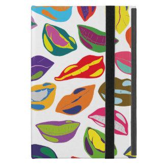 Psycho retro colorful pattern Lips iPad Mini Cover