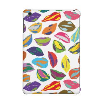 Psycho retro colorful pattern Lips iPad Mini Retina Cover