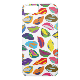 Psycho retro colorful pattern Lips iPhone 8/7 Case