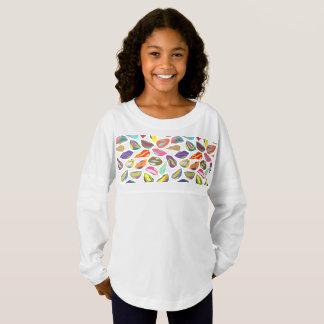 Psycho retro colorful pattern Lips Jersey Shirt