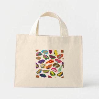Psycho retro colorful pattern Lips Mini Tote Bag