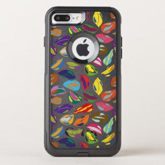 Psycho retro colorful pattern Lips OtterBox Commuter iPhone 8 Plus/7 Plus Case