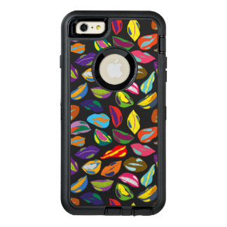 Psycho retro colorful pattern Lips OtterBox Defender iPhone Case