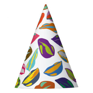 Psycho retro colorful pattern Lips Party Hat