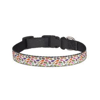 Psycho retro colorful pattern Lips Pet Collar
