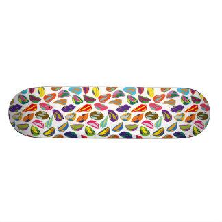 Psycho retro colorful pattern Lips Skate Board Decks