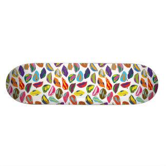 Psycho retro colorful pattern Lips Skateboard
