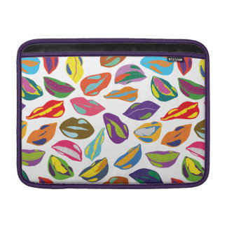 Psycho retro colorful pattern Lips Sleeve For MacBook Air