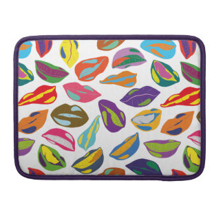 Psycho retro colorful pattern Lips Sleeve For MacBook Pro