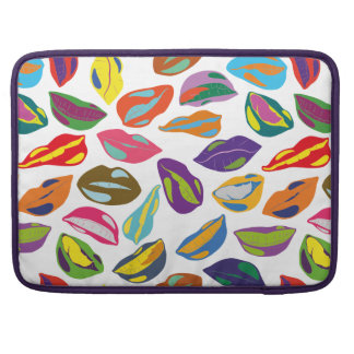 Psycho retro colorful pattern Lips Sleeve For MacBooks