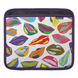 Psycho retro colorful pattern Lips Sleeves For iPads
