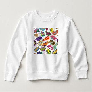 Psycho retro colorful pattern Lips Sweatshirt