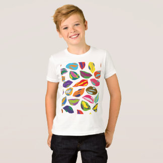 Psycho retro colorful pattern Lips T-Shirt