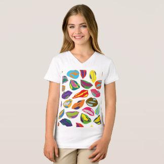Psycho retro colorful pattern Lips T-Shirt