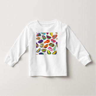 Psycho retro colorful pattern Lips Toddler T-shirt