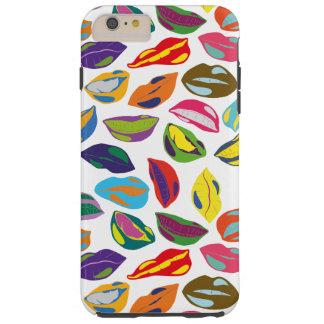 Psycho retro colorful pattern Lips Tough iPhone 6 Plus Case