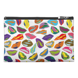 Psycho retro colorful pattern Lips Travel Accessory Bag