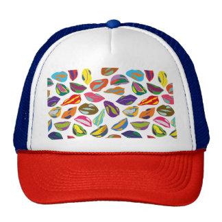 Psycho retro colorful pattern Lips Trucker Hat