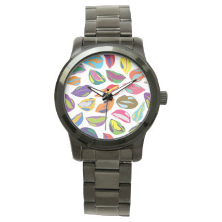 Psycho retro colorful pattern Lips Wristwatches