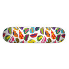 Psycho retro colourful pattern Lips Skateboard