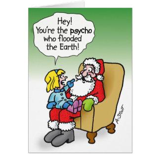 PSYCHO SANTA CARD