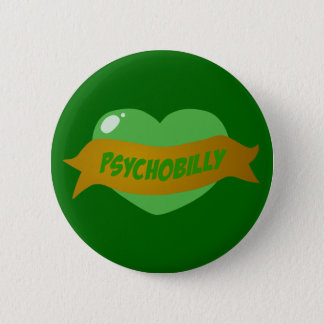 Psychobilly Tattoo Heart 2 Inch Round Button
