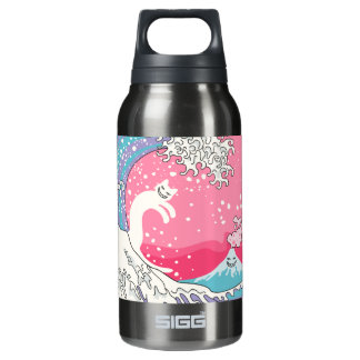 Psychodelic Bubblegum Kunagawa Insulated Water Bottle