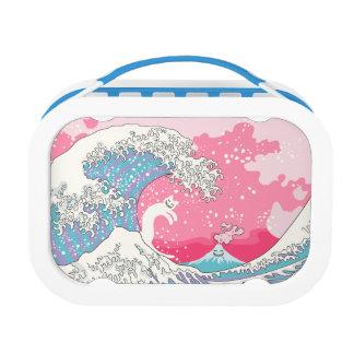 Psychodelic Bubblegum Kunagawa Surfer Cat Lunch Boxes
