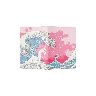 Psychodelic Bubblegum Kunagawa Surfer Cat Passport Holder