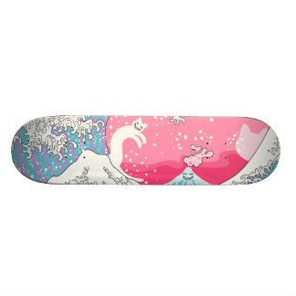 Psychodelic Bubblegum Kunagawa Surfer Cat Skateboard Decks