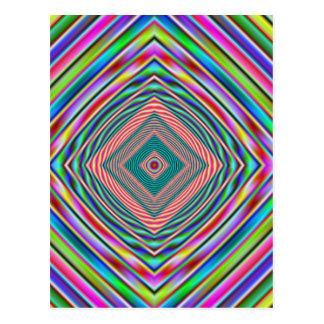 psychodelic rainbow postcard