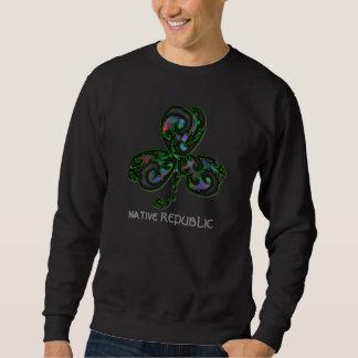 psychodelic tribal clover sweatshirt