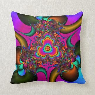 Psycholdelic fractal art pillow