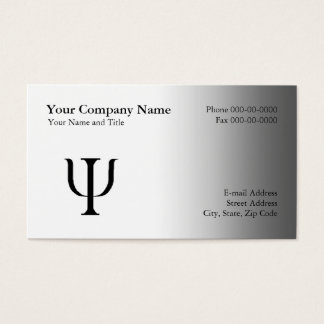 Psychologist Appointment Business Card