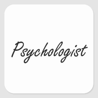 Psychologist Artistic Job Design Square Sticker