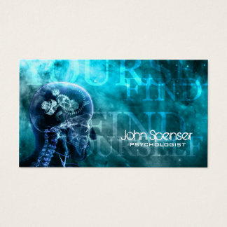 Psychologist Cosmo Blue Business Card