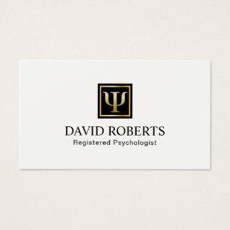 Psychologist Counselor Professional Appointment Business Card