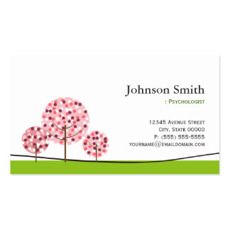 Psychologist - Cute Pink Wishing Tree Logo Pack Of Standard Business Cards
