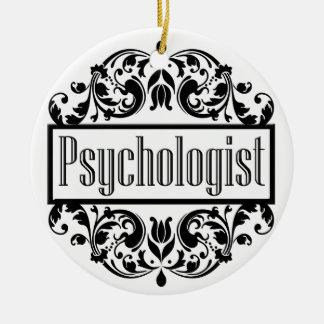 Psychologist Damask Ceramic Ornament
