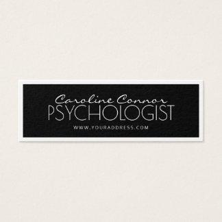 Psychologist Doctor Black & White Bordered Card