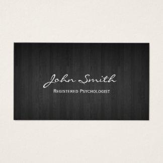 Psychologist Elegant Dark Wood Business Card