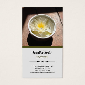 Psychologist - Elegant Natural Theme Business Card