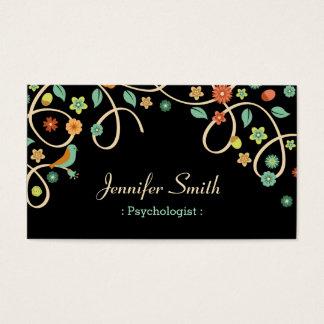 Psychologist - Elegant Swirl Floral Business Card