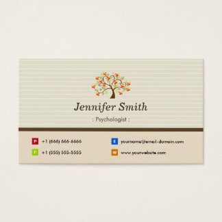 Psychologist - Elegant Tree Symbol Business Card