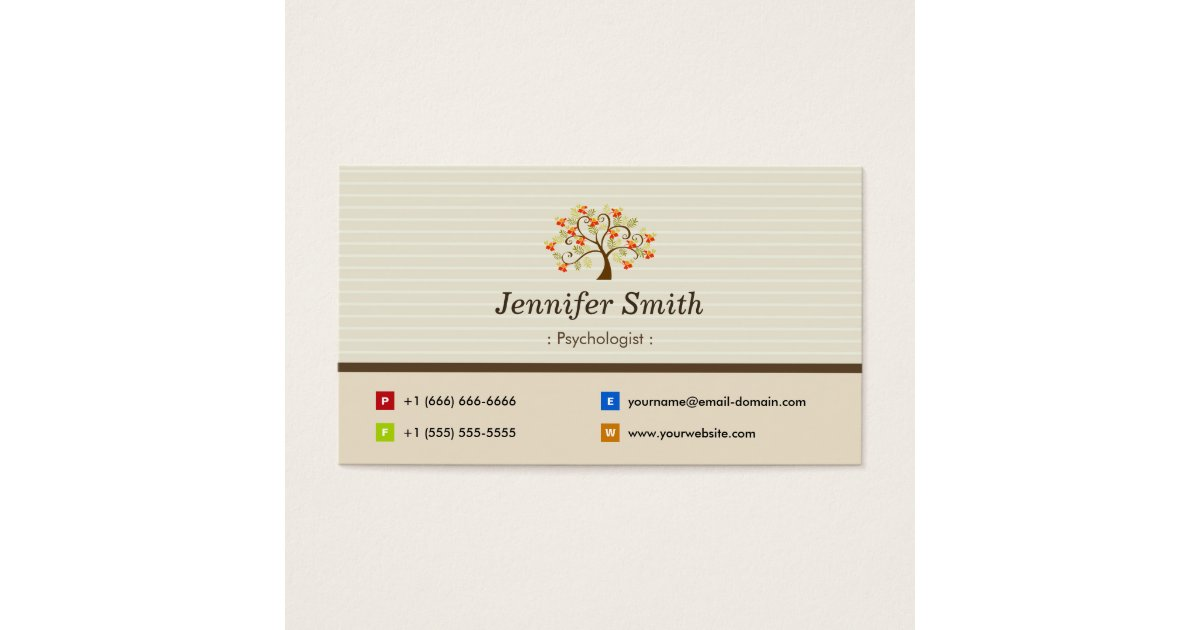 Counseling Business Cards - Business Card Printing   Zazzle CA