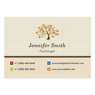 Psychologist - Elegant Tree Symbol Pack Of Chubby Business Cards