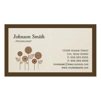 Psychologist - Elegant Tree Symbol Pack Of Standard Business Cards
