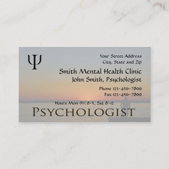 Psychologist Mental Health Business Card Zazzle